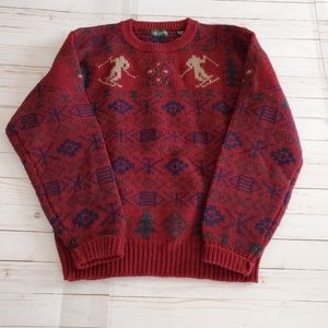 Vintage Neil Martin Christmas Sweater Wool Size L